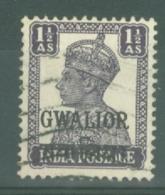 India - Gwalior: 1942/45   KGVI 'Gwalior' OVPT   SG122    1½a  [Litho]  Used - Gwalior