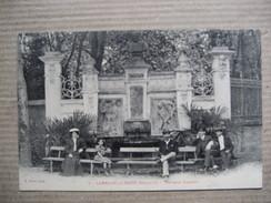 HERAULT  34   LAMALOU-LES- BAINS    -  FONTAINE CHARCOT     TRES  ANIME     TTB - Lamalou Les Bains
