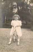 Carte Photo Enfant, Chévre Départ De Martigny Les Bains Pour Londres,scan Recto Verso - France