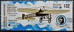 ! ARGENTINE / ARGENTINA: Centenary Of The 1st Int. AirMail Flight / Aviation / Poste Aérienne (2017) MNH / *** Neuf - Argentina