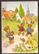 Fritz Baumgarten , Schulweg , Aus Dem Bilderbuch , Die Teddyschule - Illustrators & Photographers