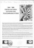 Document De La Poste - Histoire Du Timbre Poste - 1944-1984 Centre Nationale D'études Des Télécommunications - 16 Juin 1 - Documents De La Poste