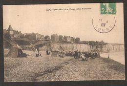 - AULT-ONIVAL - La Plage Et Les Falaises ( Voyagé En 1907 ) - Ault