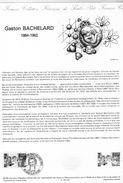 Document De La Poste - Histoire Du Timbre Poste - Gaston Bachelard 1884-1962 - 23 Juin 1984 - - Documents De La Poste