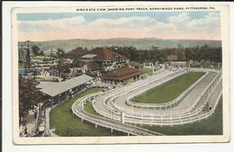 ETATS UNIS . PITTSBURGH . PA. .KENNYWOOD PARK .  BIRD'S EYE VIEW . SHOWING PONY TRACK . - Pittsburgh