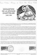 Document De La Poste - Histoire Du Timbre Poste - Monastère De La Grande Chartreuse 1084-1984 - 7 Juillet 1984 - - Documents De La Poste