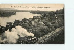 LES ROCHES De CONDRIEU -  Superbe Plan Animé Du Passage Du TRAIN à La Saulaie De Champagnolle - 2 Scans - Non Classificati