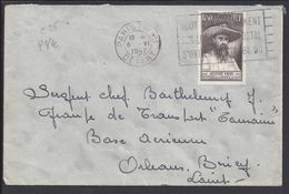 """FR - 4.50 Fr """"Auguste Pavie"""" Sur Enveloppe Du 6-6-1947 Pour Orléans Bricy - B/TB - - Poststempel (Briefe)"""