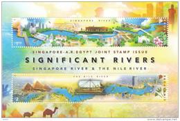 Singapore Egypt 2011 Joint Issue Rivers Miniature Sheet MNH - Singapore (1959-...)