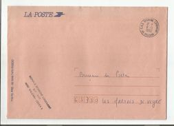 OBLITERATION MANUELLE + GRIFFE SUR LETTRE DE SERVICE CNE EPARGNE LOGEMENT ORLEANS LOIRET 1992 - Marcofilia (sobres)