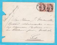 N° 57 ( 2 ) / Envel. De AVELGHEM  (lsc ) - 1893-1900 Fine Barbe