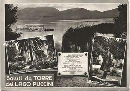 X184 Viareggio (Lucca) - Saluti Da Torre Del Lago Puccini - Panorama Vedute Multipla / Viaggiata 1972 - Viareggio