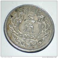 """1937, MENG CHIANG JAPANESE PUPPET BANK, SCARCE, 5 JIAO (25.1 M""""m) COIN, HIGH GRADE XF+ *SEE PHOTOS* - China"""