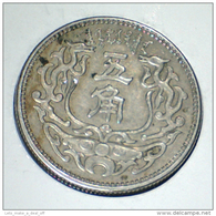 "1937, MENG CHIANG JAPANESE PUPPET BANK, SCARCE, 5 JIAO (25.1 M""m) COIN, HIGH GRADE XF+ *SEE PHOTOS* - Chine"