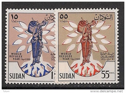 Soudan - 1960 - N°Yv. 125 à 126 - Année Du Réfugié - Neuf Luxe ** / MNH / Postfrisch - Soudan (1954-...)