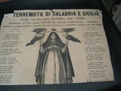 FOGLIO TERREMOTO DI CALABRIA E SICILIA 1909 - Altri