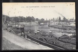 CPA 93 - Saint-Denis, Le Bassin Du Canal - Saint Denis