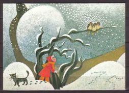"""Marlene Reidel , Poster """" Der Weg Zum Christkind """" , Ausschnitt - Künstlerkarten"""