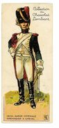 CHROMO IMAGE CHOCOLAT LOMBART SOLDAT N°59 GARDE IMPERIALE GRENADIER A CHEVAL 1804 - Lombart