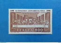 1998 ITALIA FRANCOBOLLO NUOVO STAMP NEW MNH**  - LEONARDO DA VINCI IL CENACOLO - - 6. 1946-.. Republic