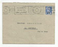 OBLITERATION MECANIQUE DE PARIS IX DU 6/12/1951 - Marcophilie (Lettres)