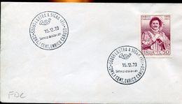 26342 Italia, Fdc 1973  Centenary Of Birth Enrico Caruso, Music Opera Singer, Chanteur Lyrique - Music