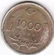 Turkey, 1000 Lira 1991 - Türkei