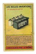CHROMO IMAGE CHOCOLAT FINS LE RHONE LES BELLES INVENTIONS N°69 LA GALVANAPLASTIE - Chocolate