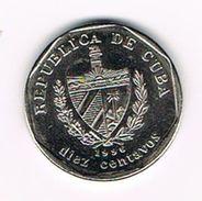 )  CUBA  10 CENTAVOS  1996 - Cuba