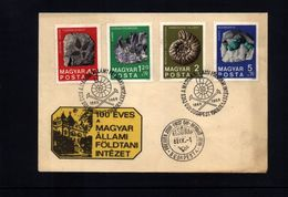Ungarn / Hungary 1969  Mineralien / Minerals + Fossilien / Fossils Interesting Cover - Fossiles