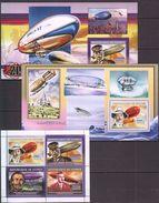 B217 2006 DE GUINEE AVIATION ZEPPELIN 1KB+2BL MNH - Zeppelins