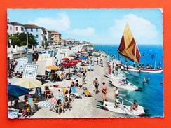 Cartolina Bellaria - La Spiaggia - 1961 - Rimini