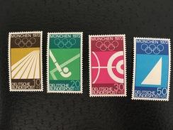 MiNr. 587 - 590  Deutschland Bundesrepublik Deutschland   1969, 4. Juni. Olympische Sommerspiele 1972, München (I - Ete 1972: Munich