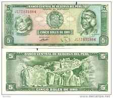 Pérou 5 SOLES DE ORO Pick 99a TB+ - Perú