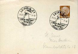 26354 Germany Reich Special Postmark Leipzig 1936 6.welt Geflugel Kongres,poultry Congress,cock,coq, - Farm