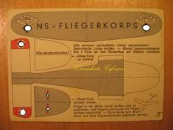 ~1940 Alte AK NS Fliegerkorps NSFK Flugzeug Flugmodell Baubogen Propaganda - Weltkrieg 1939-45