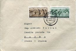26356  Germany,ddr, Circuled Cover 1954 With 2 Stamp Cycling For Peace, Course De La Paix - Radsport