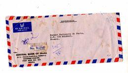 Lettre Recommandee Dehli  Sur Sculpture Avion The Entete Banque - India
