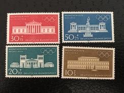 MiNr. 624 - 627  Deutschland Bundesrepublik Deutschland   1970, 5. Juni. Olympische Sommerspiele 1972, München - Oblitérés