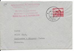 "1938 - ""LIBERATION"" Des SUDETES - ENVELOPPE Pade ASCH => KARLSRUHE - Lettres & Documents"