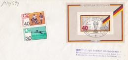 Germany Cover 1974 World Cup FIFA Football - München With Souvenir Sheet   (LAR5-54) - Coppa Del Mondo