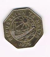 ) MALTA  25 CENTS  1975 - Malte