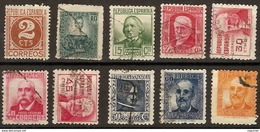 España U 0731/740 (o) Personajes 1936 - 1931-Aujourd'hui: II. République - ....Juan Carlos I