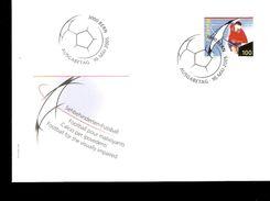 FDC COVER HELVETIA CALCIO IPOVEDENTI FOOTBAL POUR MALVOIANT - Handisport