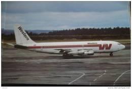 B 707     WESTERN AIRLINES    N3163 - 1946-....: Moderne