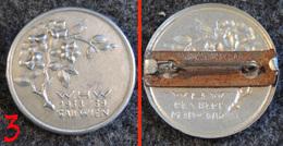 WW2 - Insigne De Journée Allemande WHW Fleur Alpine - 1938/39 GAU WIEN Vienne Autriche #3 - 1939-45