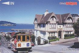 Carte Japon - TRAMWAY TRAM  / SAN FRANCISCO - Site USA Japan Prepaid Card - STRASSENBAHN Lagare Karte - 2879 - Landscapes