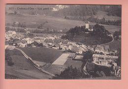 OUDE POSTKAART ZWITSERLAND - SCHWEIZ -  SUISSE -     CHATEAU-D'OEX  MET TREIN IN DAL - VD Vaud
