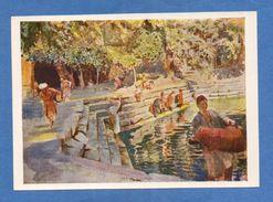 7800 Uzbekistan House With Water-carriers Mashkopchi Painting By P.P. Benkov Edition 1969 - Uzbekistan
