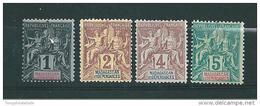 Colonie Madagascar Timbres De 1896/99  N°28 A 31  Neufs * ( Cote 17,70€ ) - Neufs
